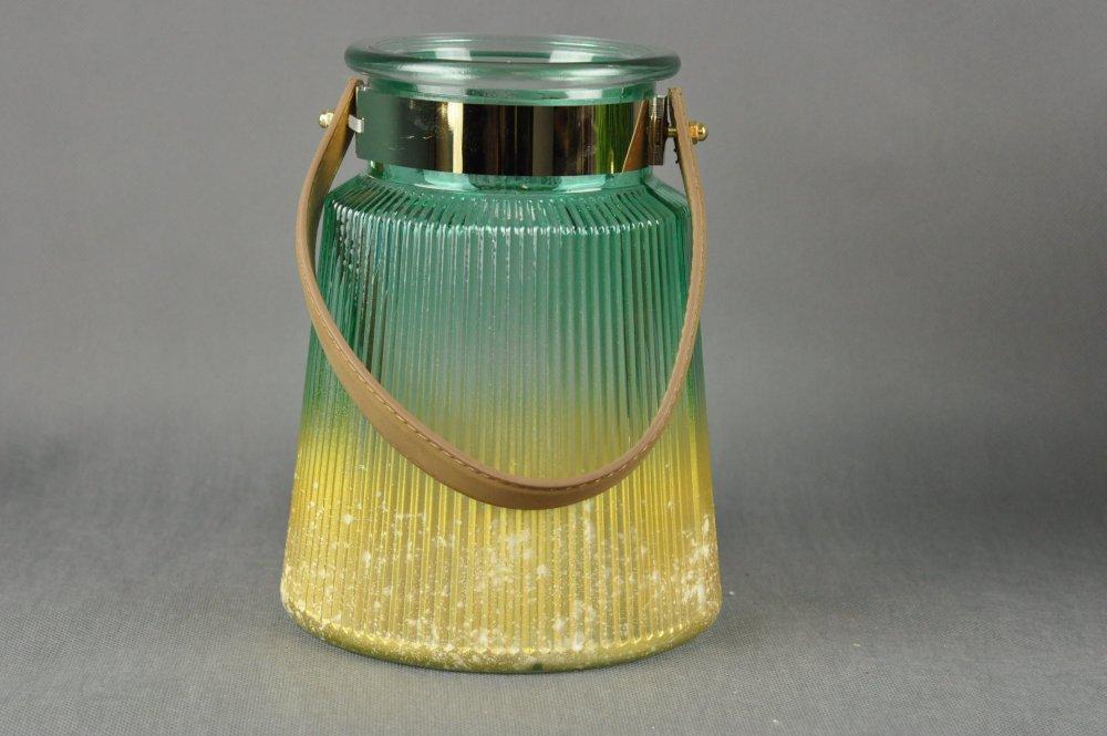 LAMPION ŚWIECZNIK SZKLANY S